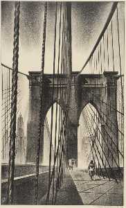 Louis Lozowick - Puente De Brooklyn