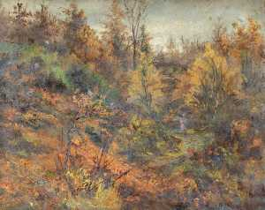 William Henry Hope - Otoño , croham hurst , Croydon , Surrey , norte lado
